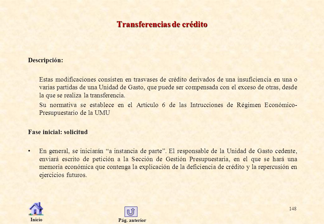 Transferencias de crédito