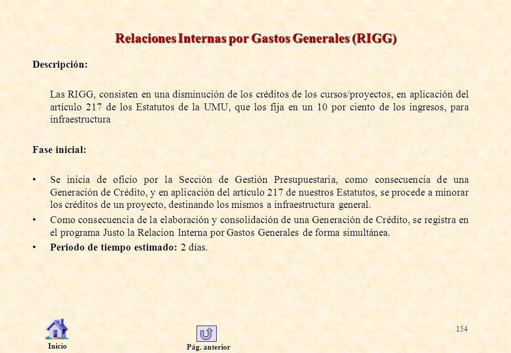 Relaciones Internas por Gastos Generales (RIGG)