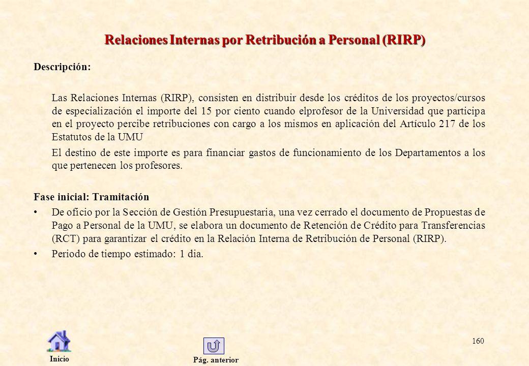 Relaciones Internas por Retribución a Personal (RIRP)