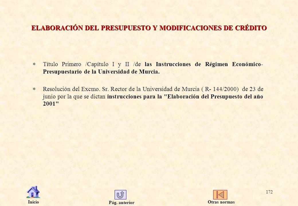 ELABORACIÓN DEL PRESUPUESTO Y MODIFICACIONES DE CRÉDITO