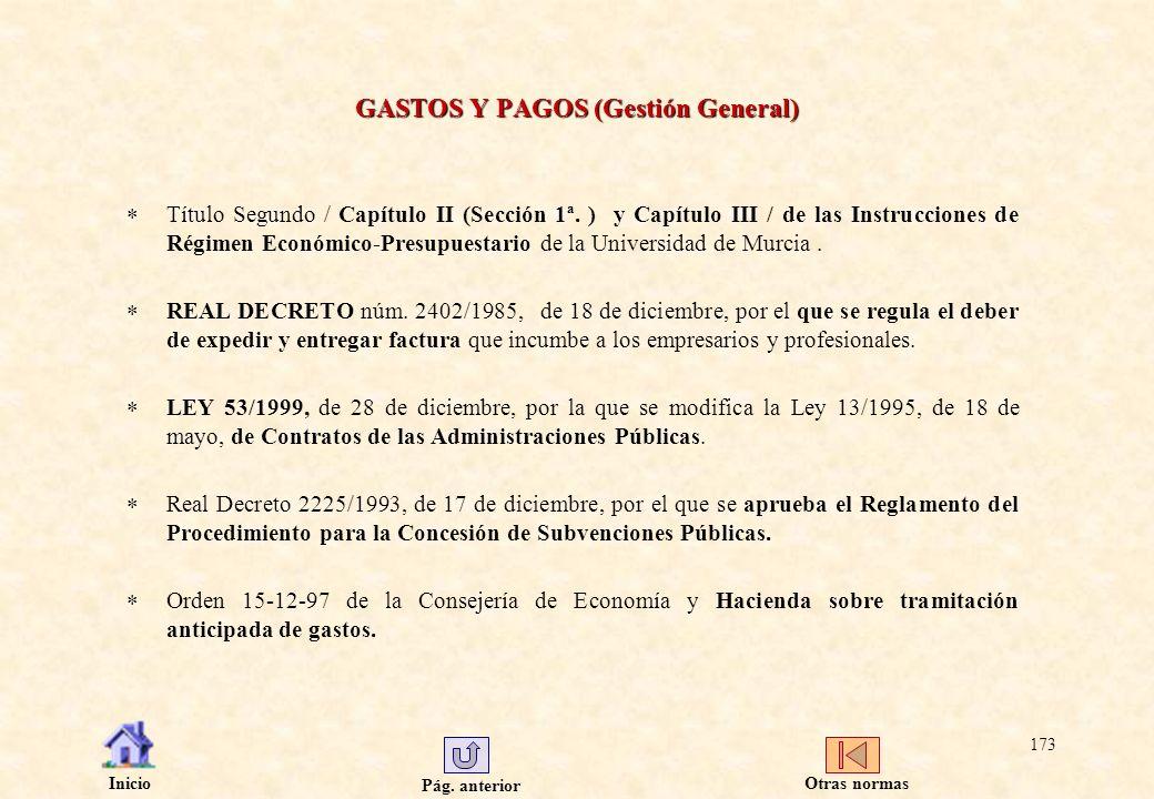GASTOS Y PAGOS (Gestión General)