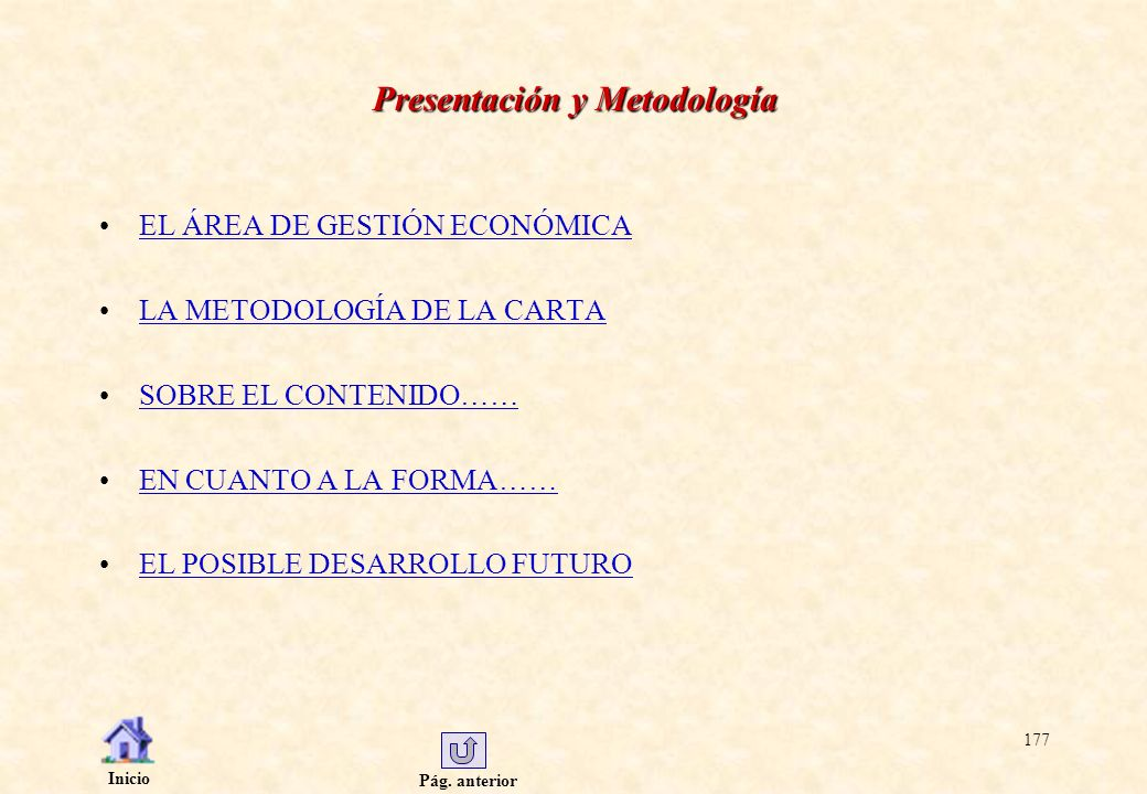 Presentación y Metodología