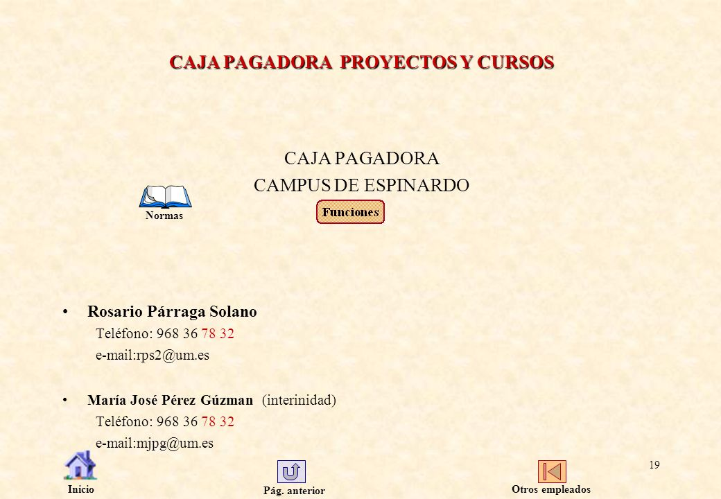 CAJA PAGADORA PROYECTOS Y CURSOS