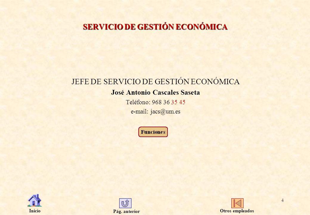 SERVICIO DE GESTIÓN ECONÓMICA