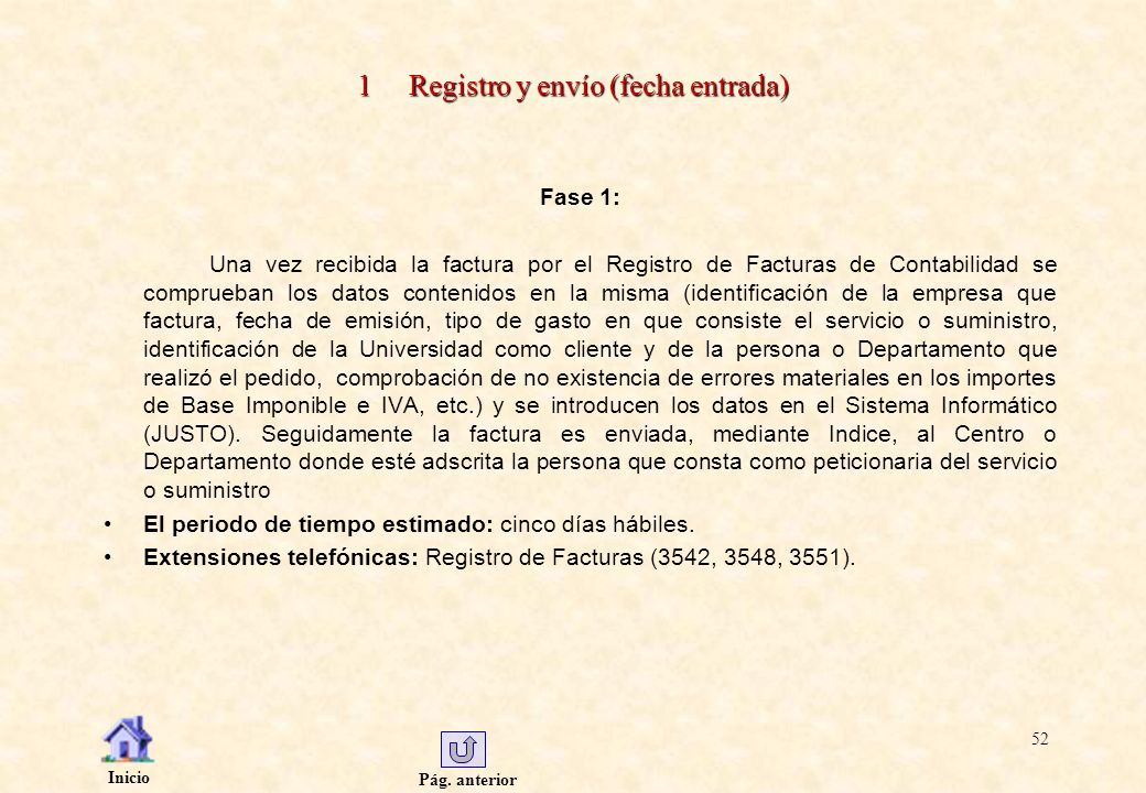 1 Registro y envío (fecha entrada)