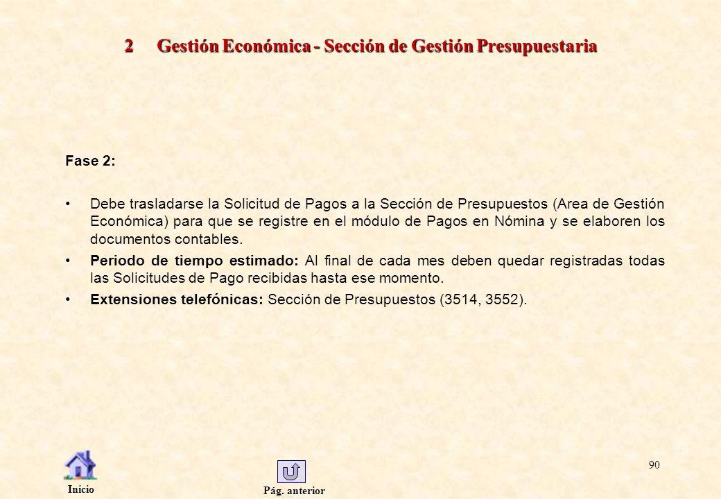 2 Gestión Económica - Sección de Gestión Presupuestaria