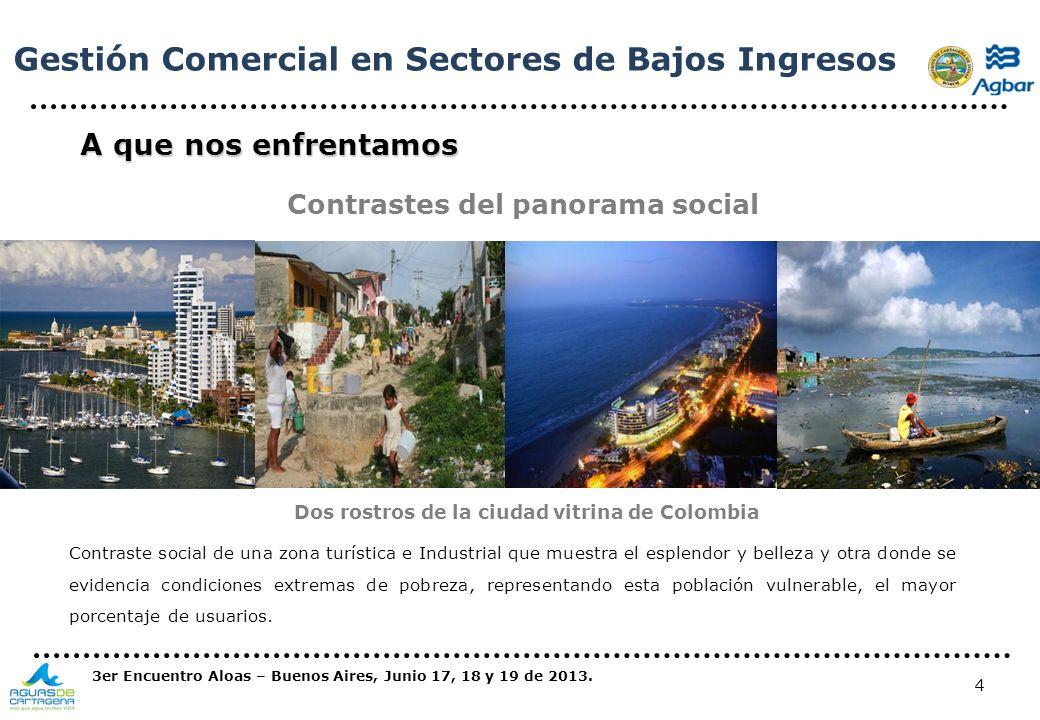 Dos rostros de la ciudad vitrina de Colombia
