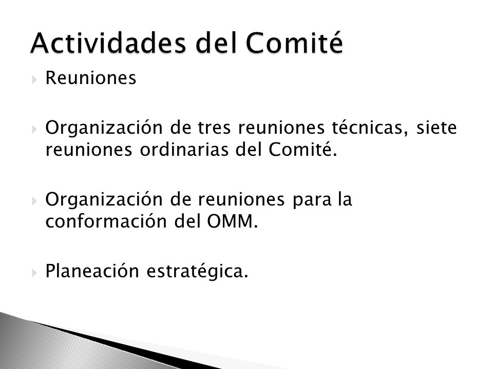 Actividades del Comité