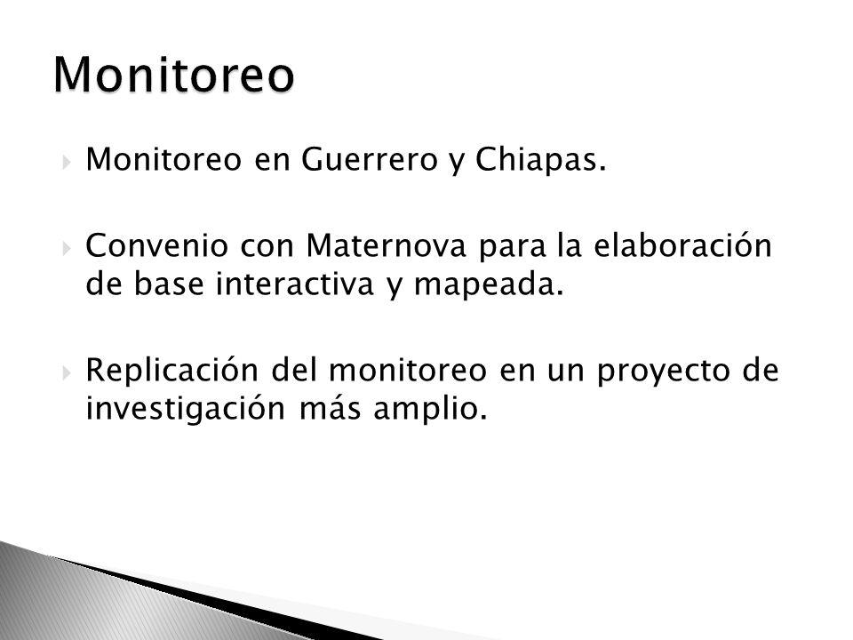 Monitoreo Monitoreo en Guerrero y Chiapas.
