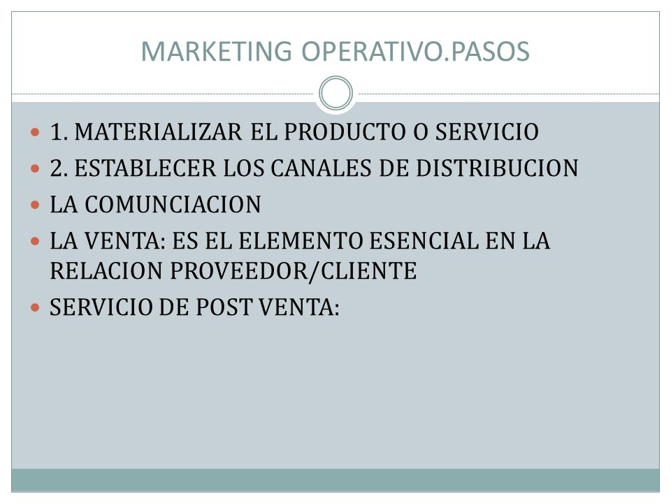 MARKETING OPERATIVO.PASOS