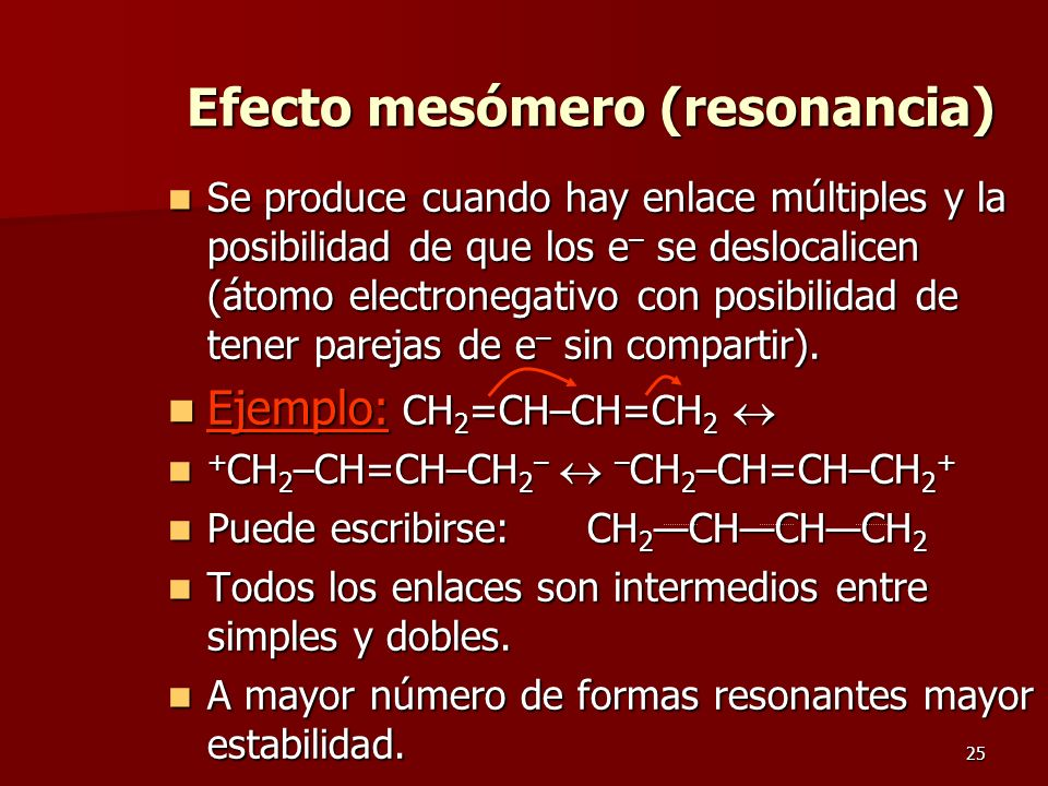 Efecto mesómero (resonancia)