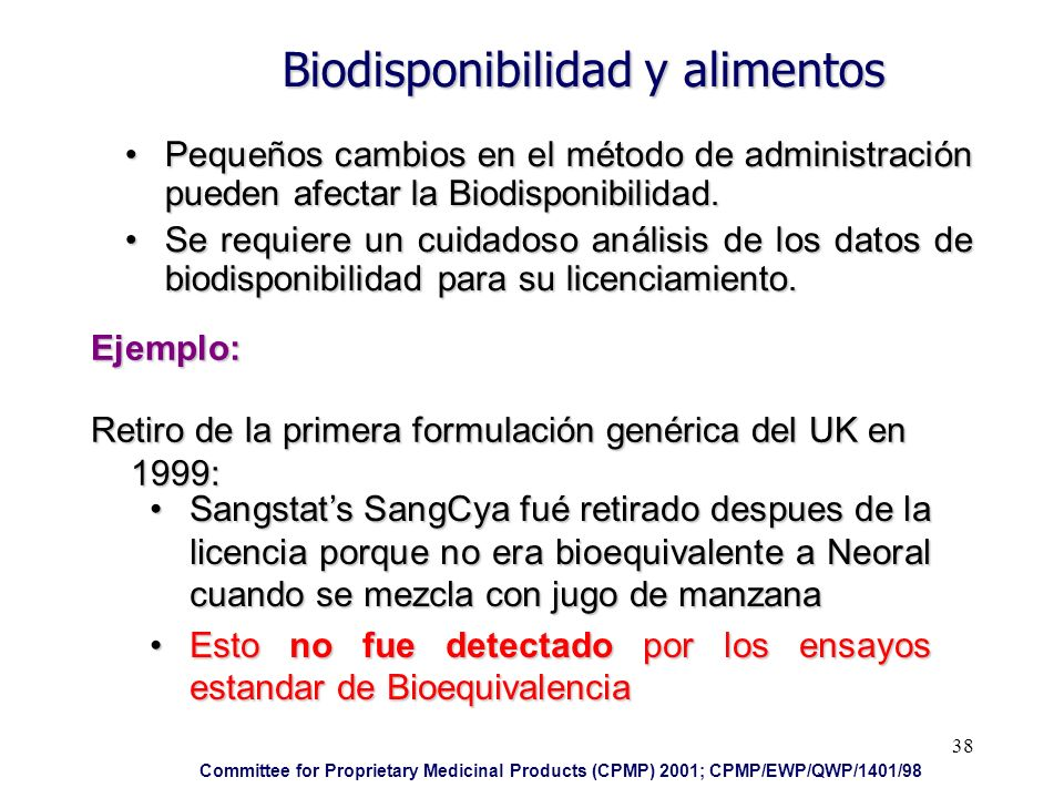 Biodisponibilidad y alimentos