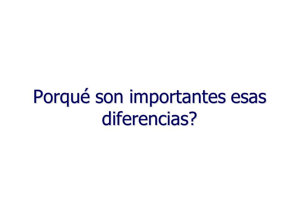 Porqué son importantes esas diferencias