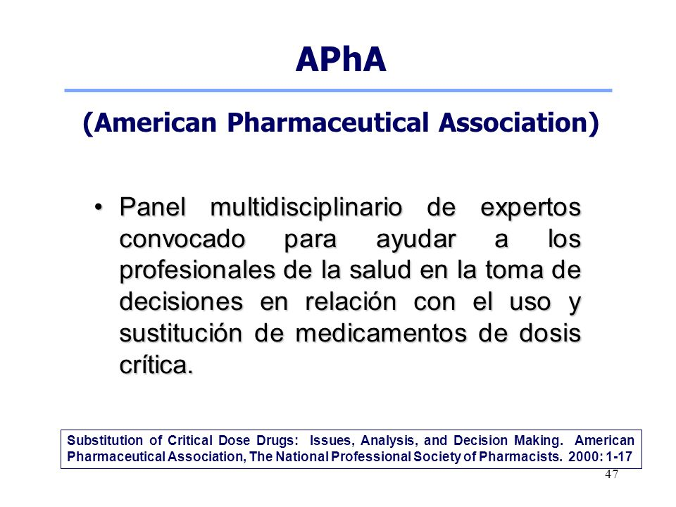(American Pharmaceutical Association)