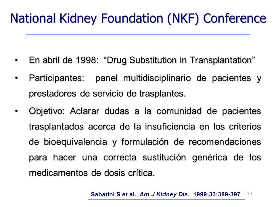 National Kidney Foundation (NKF) Conference