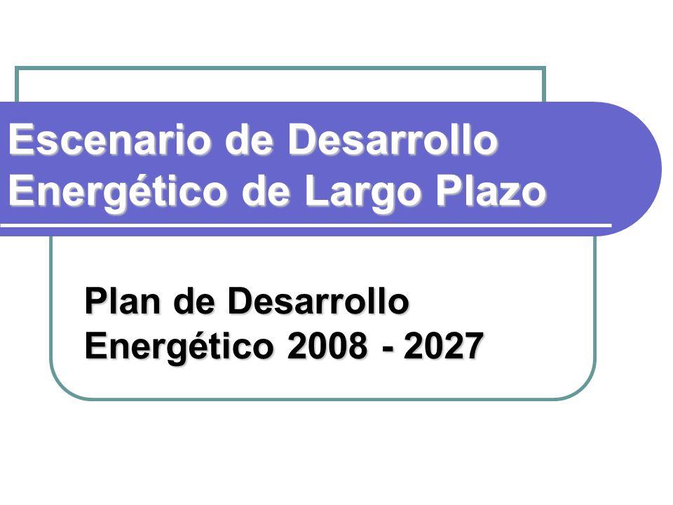 Escenario de Desarrollo Energético de Largo Plazo