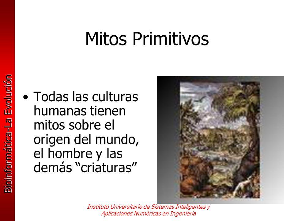 Mitos Primitivos Todas las culturas humanas tienen mitos sobre el origen del mundo, el hombre y las demás criaturas