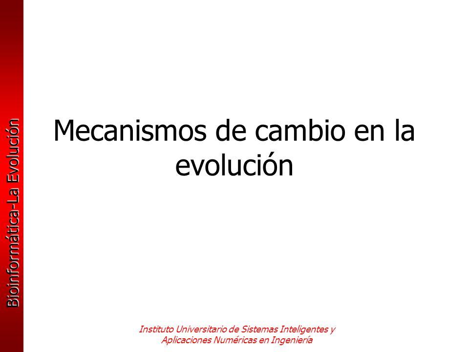 Mecanismos de cambio en la evolución