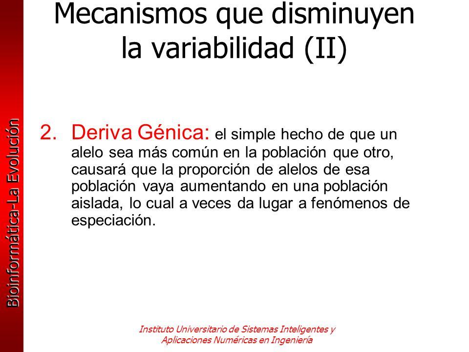 Mecanismos que disminuyen la variabilidad (II)