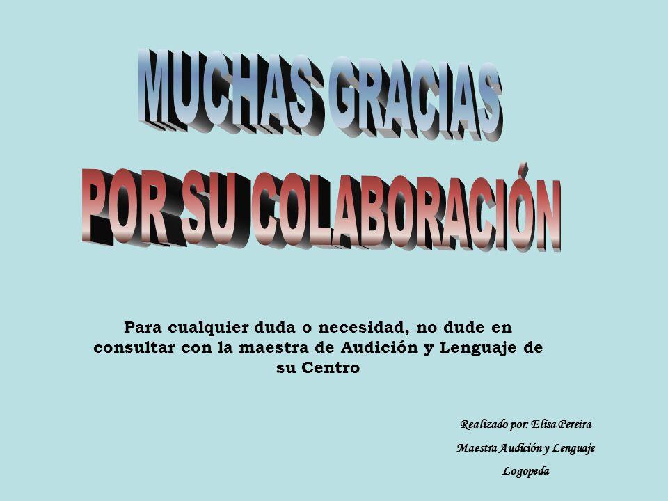 Realizado por: Elisa Pereira Maestra Audición y Lenguaje
