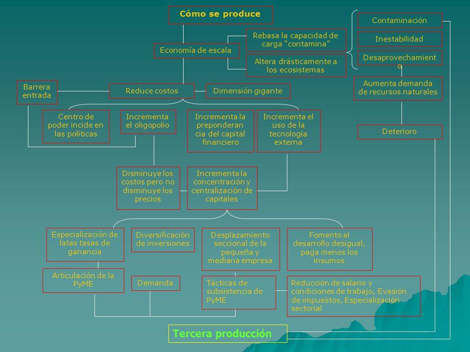 Tercera producción Cómo se produce Contaminación