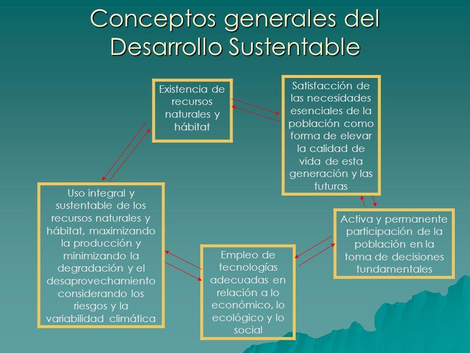 Conceptos generales del Desarrollo Sustentable
