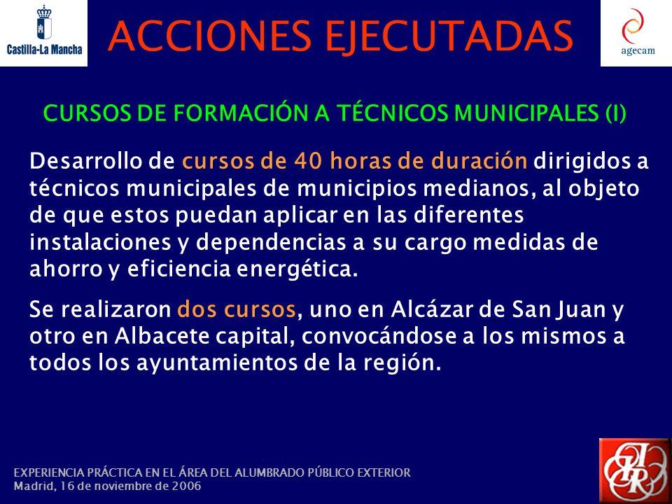 CURSOS DE FORMACIÓN A TÉCNICOS MUNICIPALES (I)