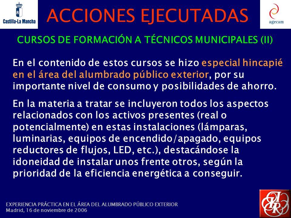 CURSOS DE FORMACIÓN A TÉCNICOS MUNICIPALES (II)