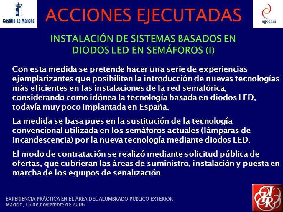 INSTALACIÓN DE SISTEMAS BASADOS EN DIODOS LED EN SEMÁFOROS (I)