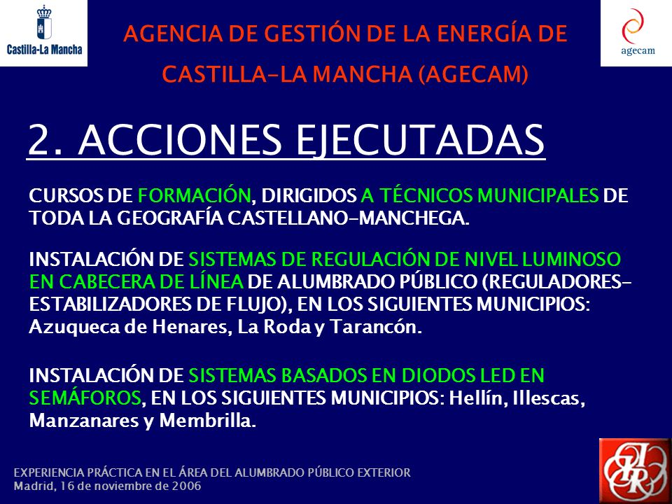 AGENCIA DE GESTIÓN DE LA ENERGÍA DE CASTILLA-LA MANCHA (AGECAM)