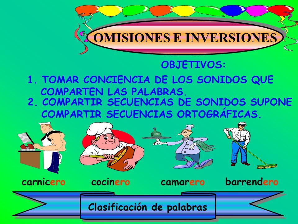 OMISIONES E INVERSIONES