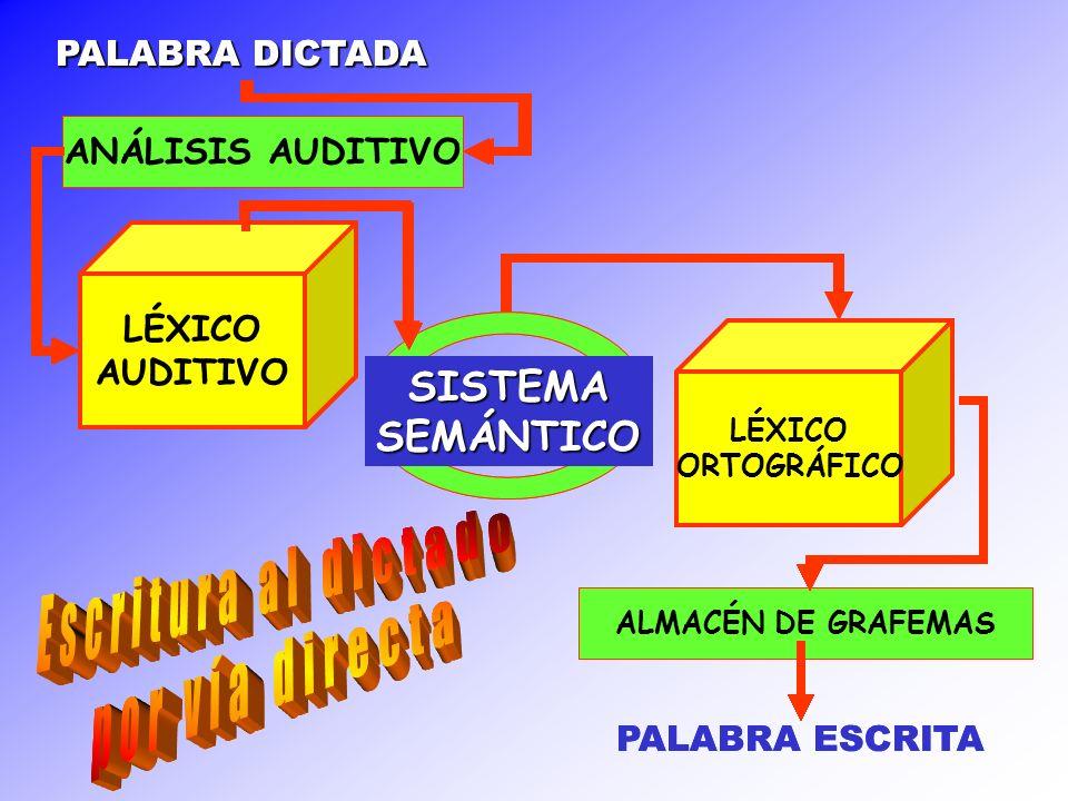 Escritura al dictado por vía directa Escritura al dictado