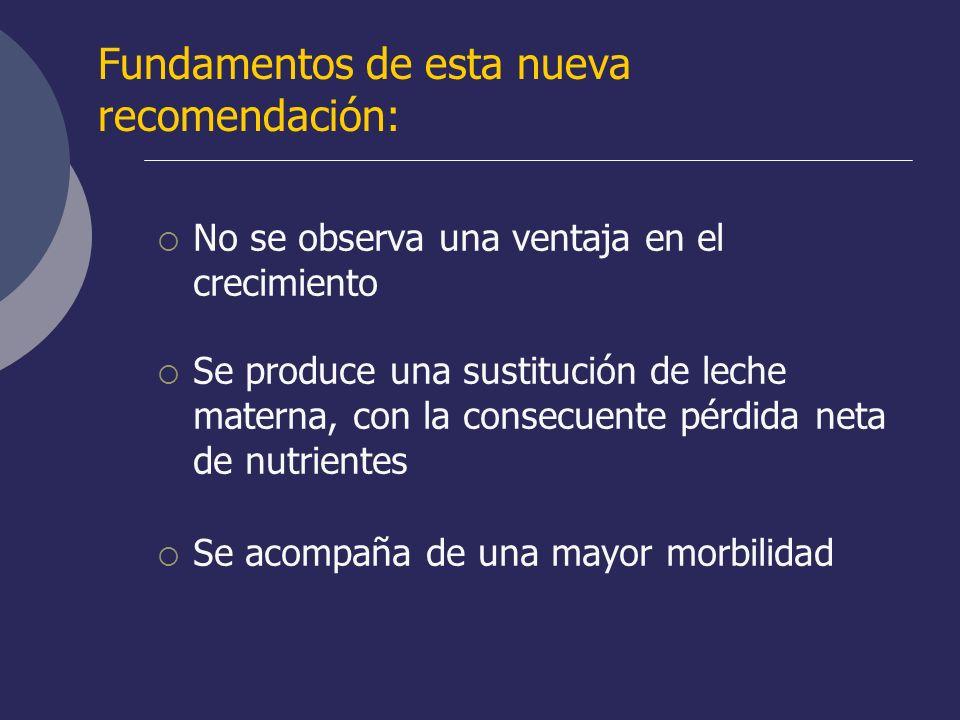 Fundamentos de esta nueva recomendación: