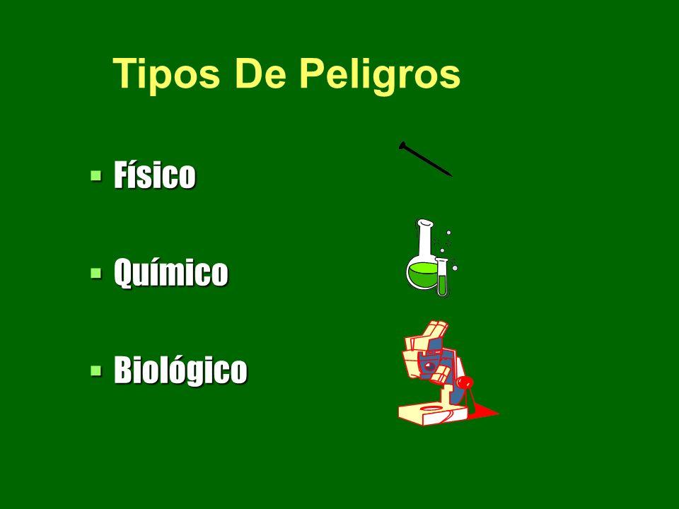 Tipos De Peligros Físico Químico Biológico