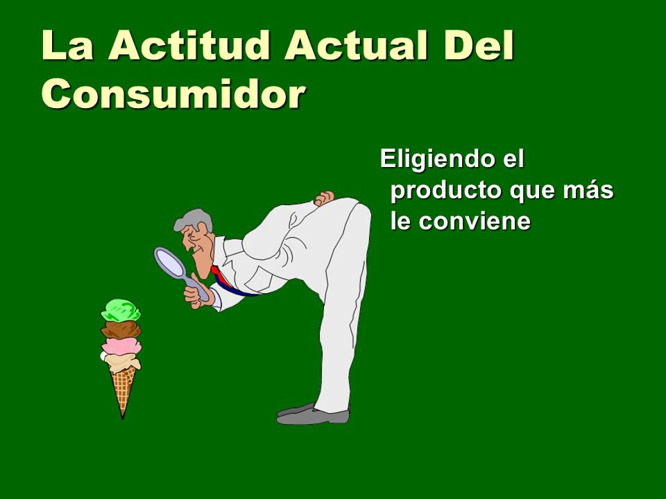 La Actitud Actual Del Consumidor