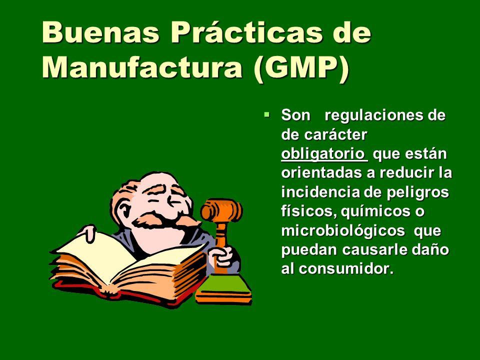 Buenas Prácticas de Manufactura (GMP)