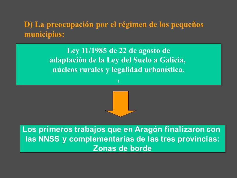 D) La preocupación por el régimen de los pequeños municipios: