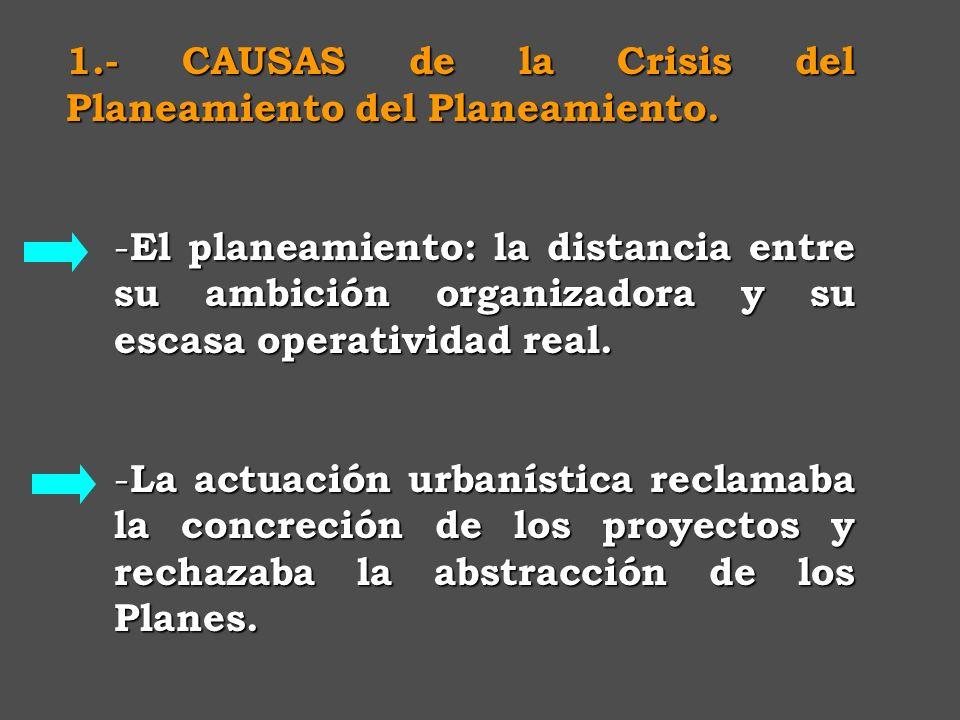 1.- CAUSAS de la Crisis del Planeamiento del Planeamiento.