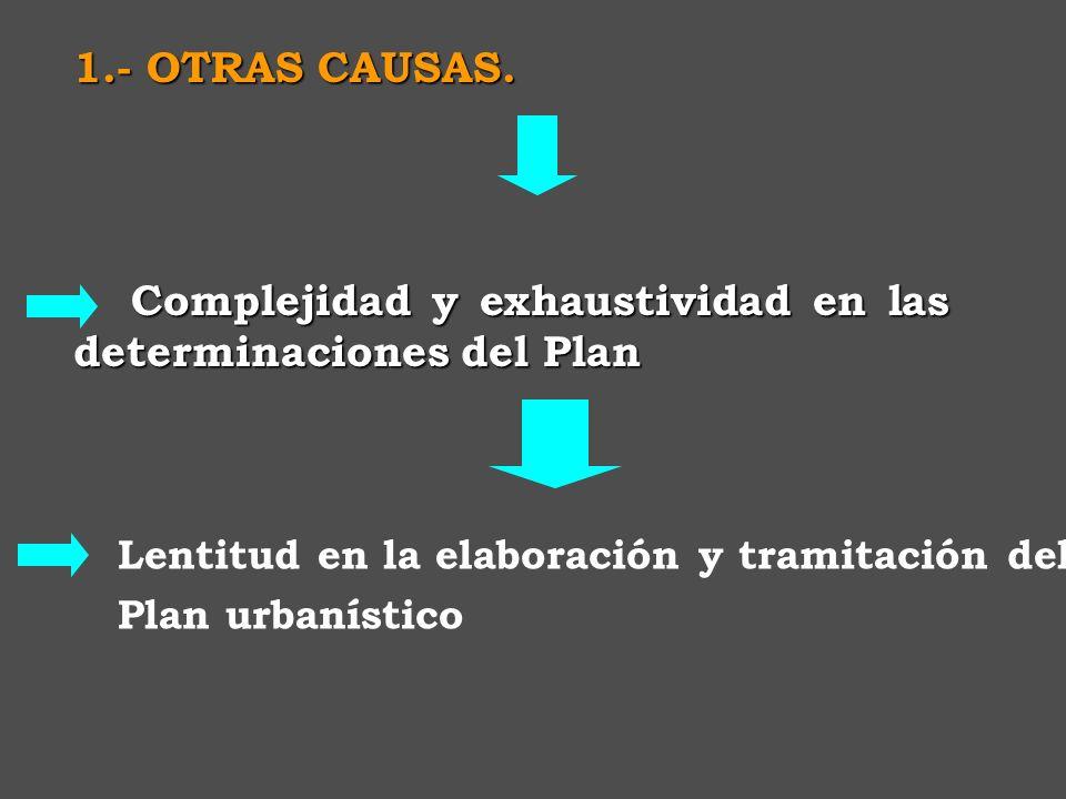 Complejidad y exhaustividad en las determinaciones del Plan