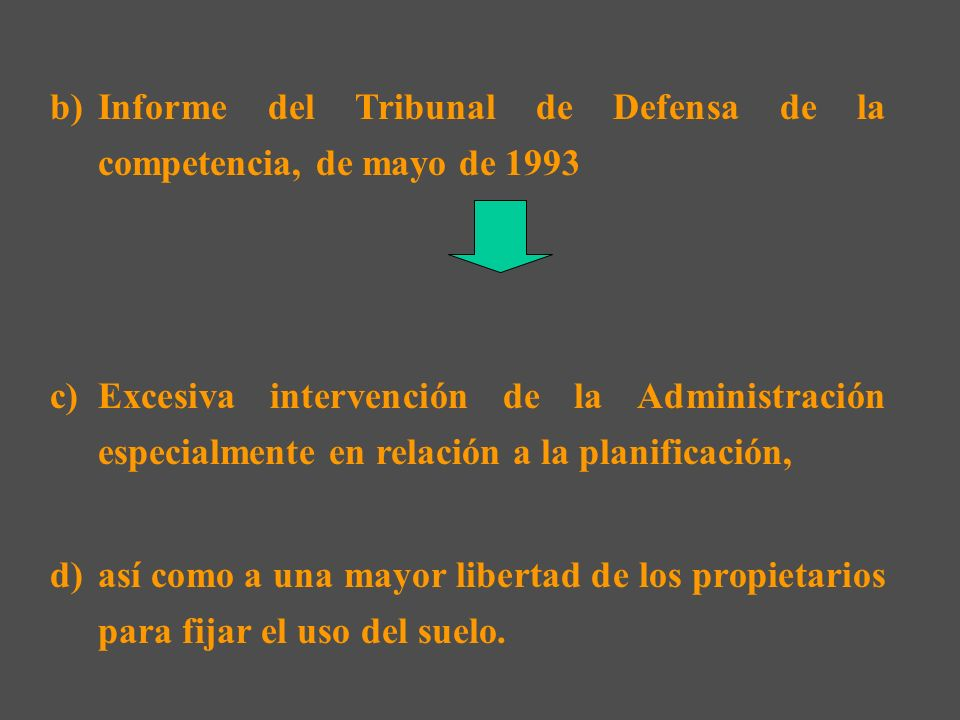 Informe del Tribunal de Defensa de la competencia, de mayo de 1993