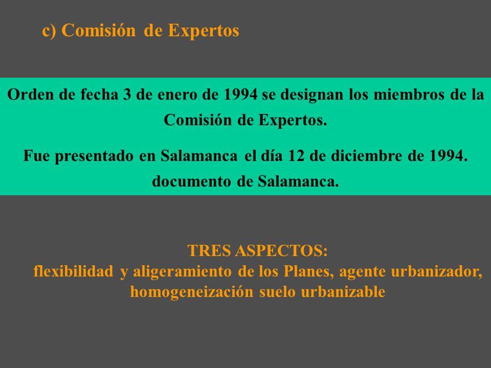 c) Comisión de Expertos