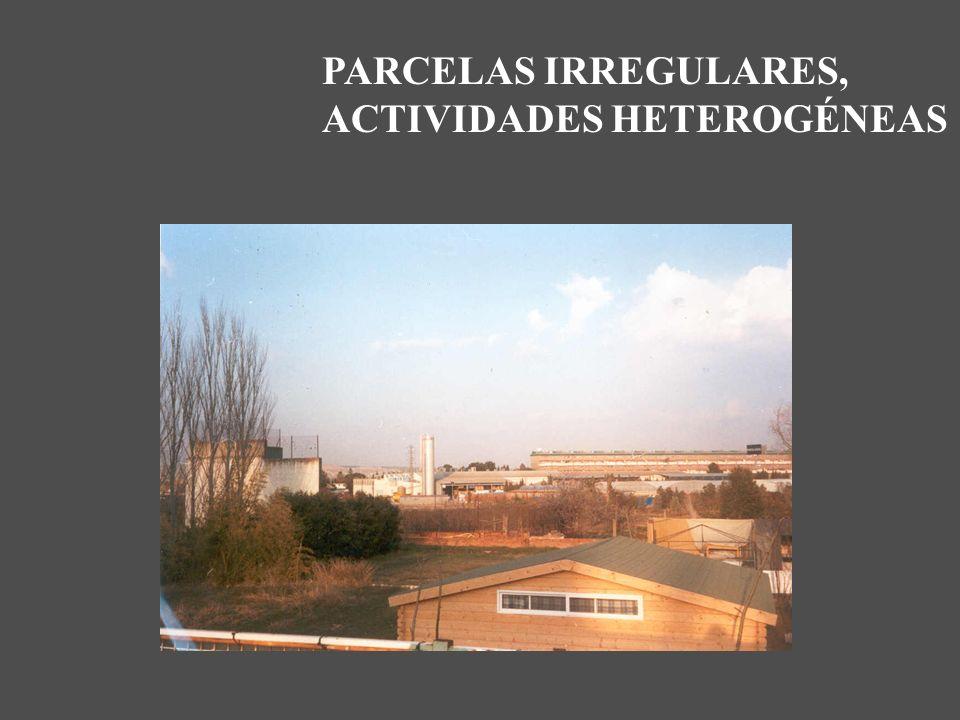 PARCELAS IRREGULARES, ACTIVIDADES HETEROGÉNEAS