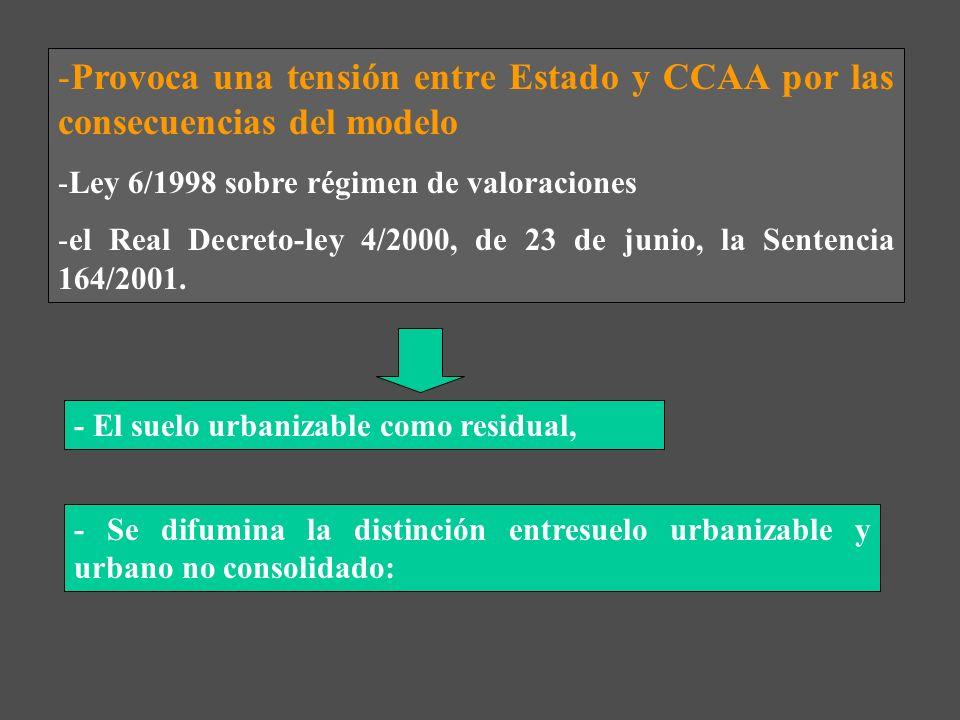 Provoca una tensión entre Estado y CCAA por las consecuencias del modelo