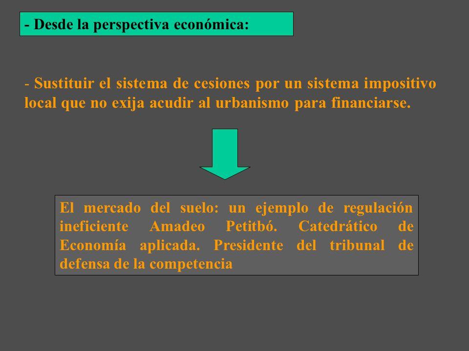 - Desde la perspectiva económica: