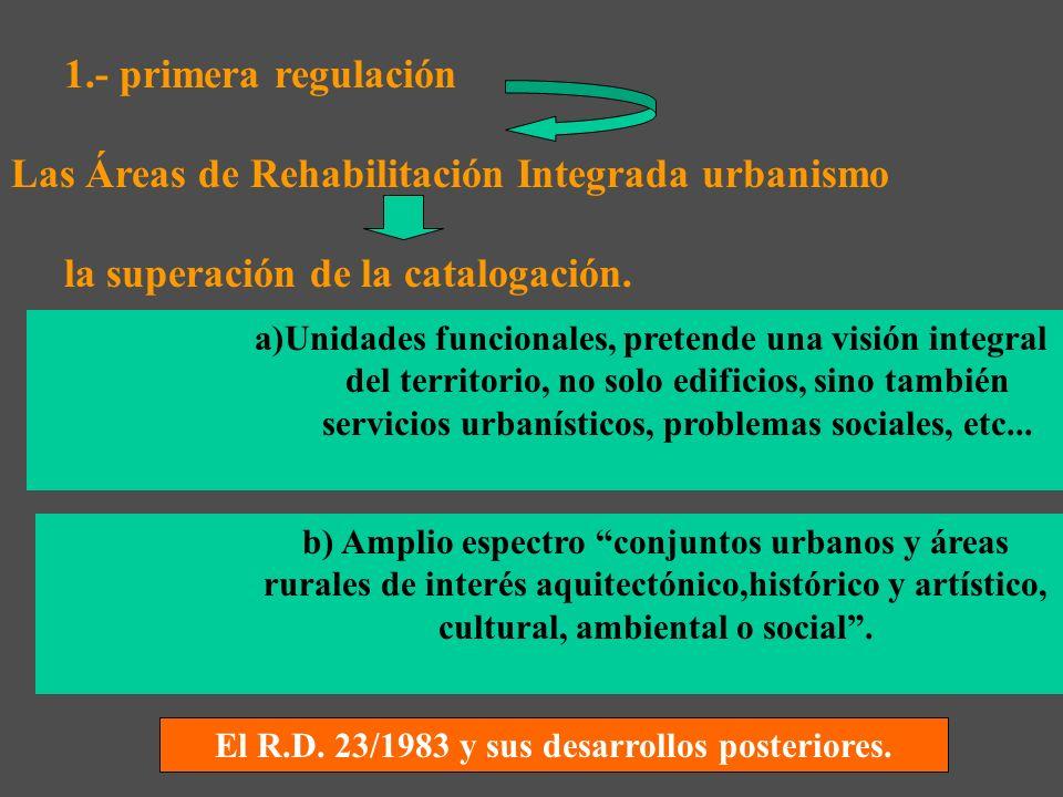 El R.D. 23/1983 y sus desarrollos posteriores.