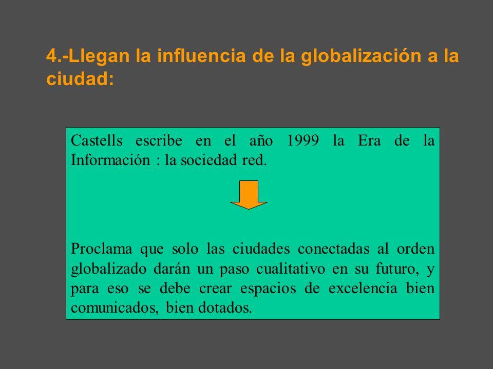 4.-Llegan la influencia de la globalización a la ciudad:
