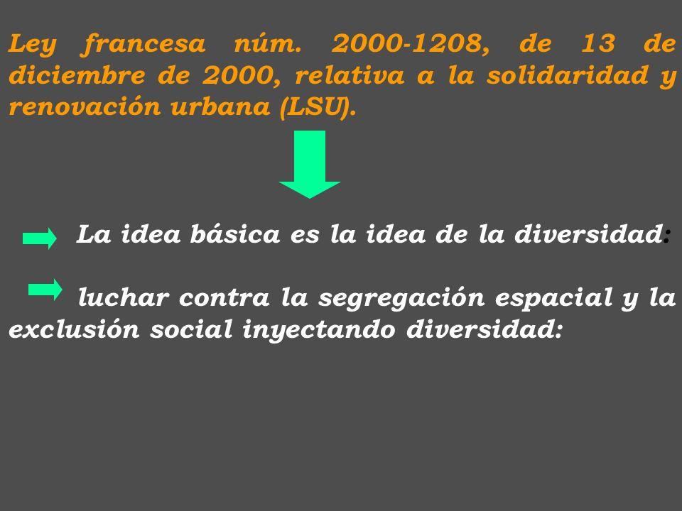 Ley francesa núm. 2000-1208, de 13 de diciembre de 2000, relativa a la solidaridad y renovación urbana (LSU).