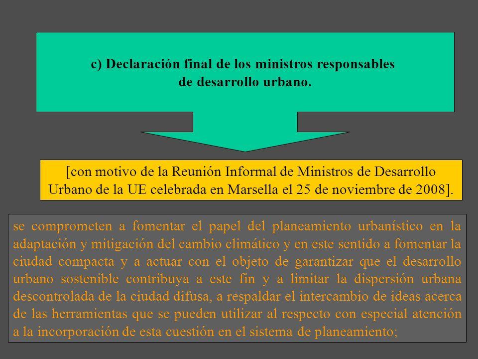 c) Declaración final de los ministros responsables