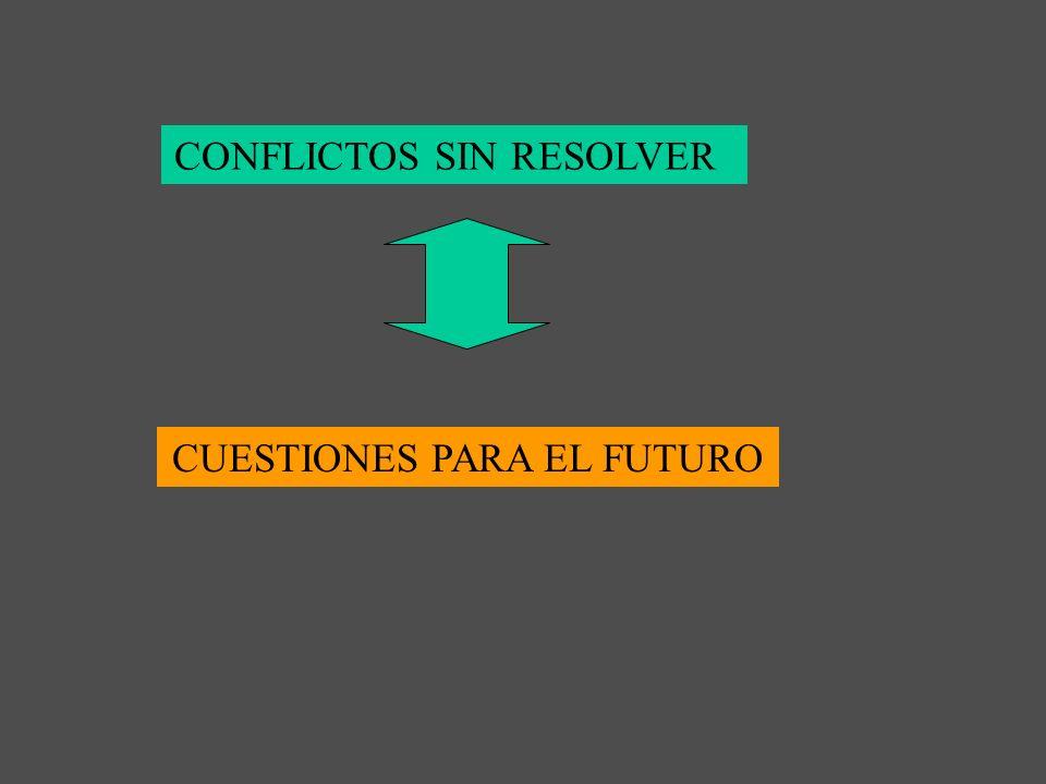 CONFLICTOS SIN RESOLVER