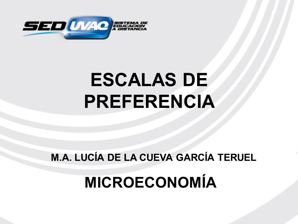 ESCALAS DE PREFERENCIA